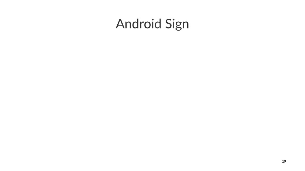 Android Sign 19