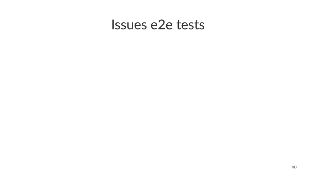 Issues e2e tests 30