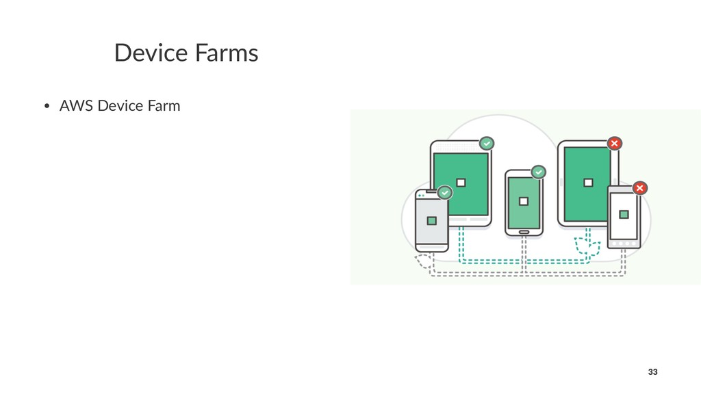 Device Farms • AWS Device Farm 33