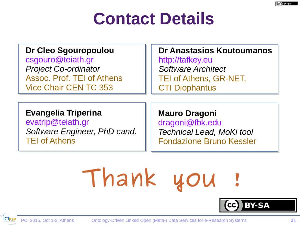 PCI 2015, Oct 1-3, Athens Ontology-Driven Linke...