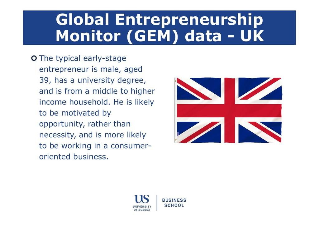 Global Entrepreneurship Monitor (GEM) data - UK...