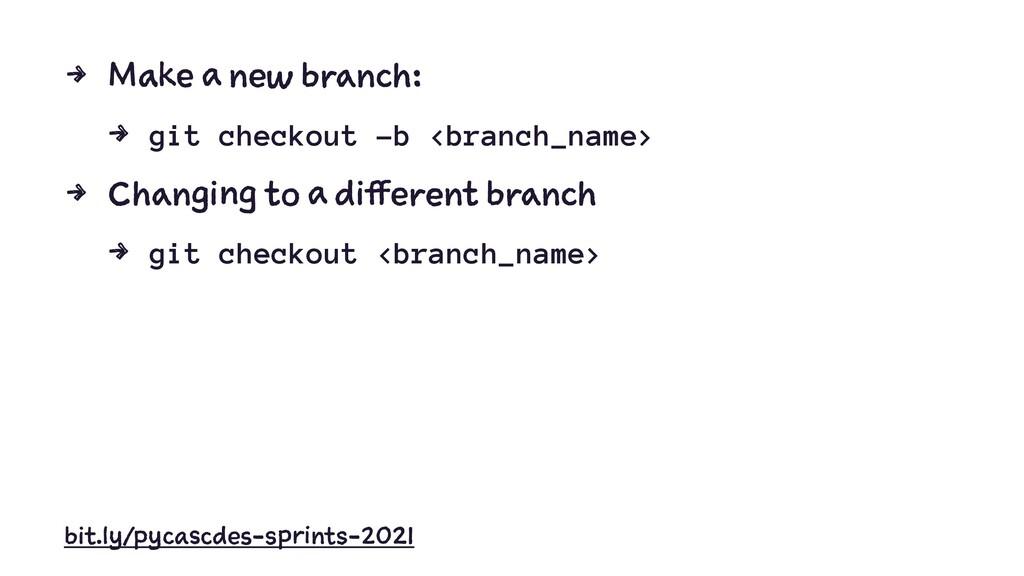 4 M a e b : 4 git checkout -b <branch_name> 4 C...