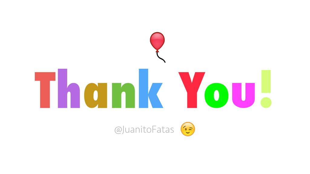 Thank You! @JuanitoFatas