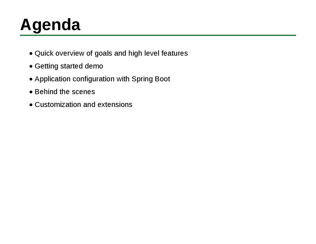 Agenda Quick overview of goals and high level f...