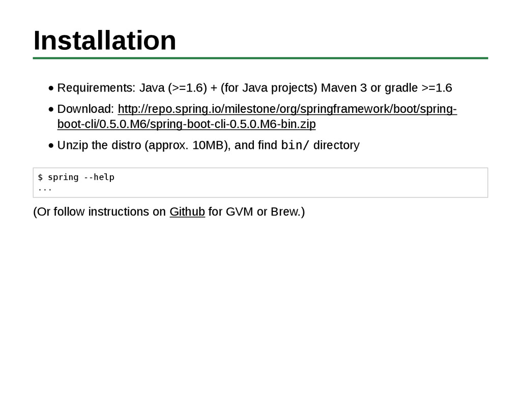 Installation Requirements: Java (>=1.6) + (for ...