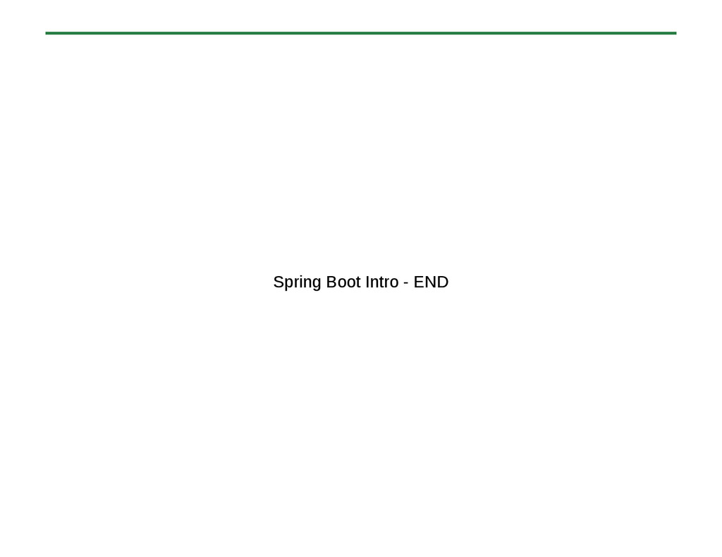 Spring Boot Intro - END