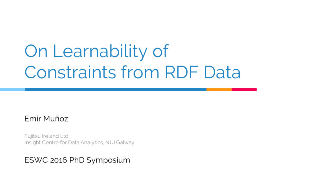 On Learnability of Constraints from RDF Data Em...
