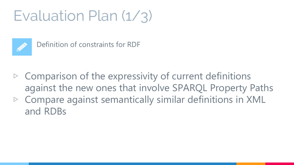 Evaluation Plan (1/3) ▷ Comparison of the expre...