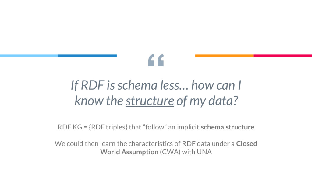 """"""" If RDF is schema less… how can I know the str..."""