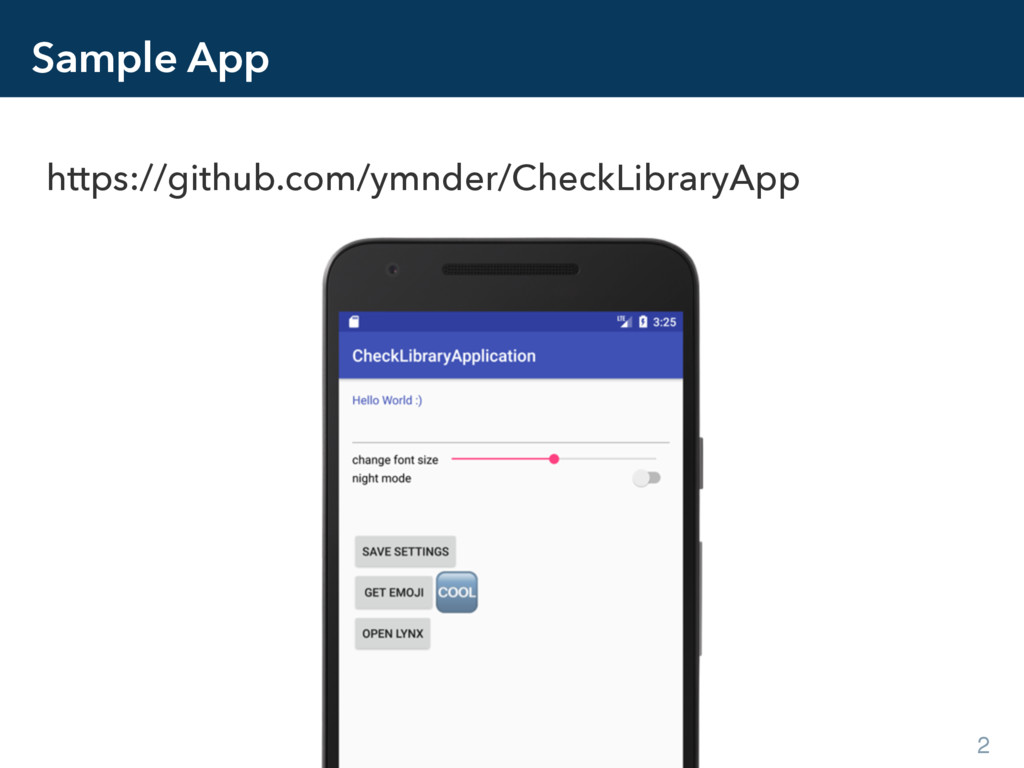 Sample App https://github.com/ymnder/CheckLibra...