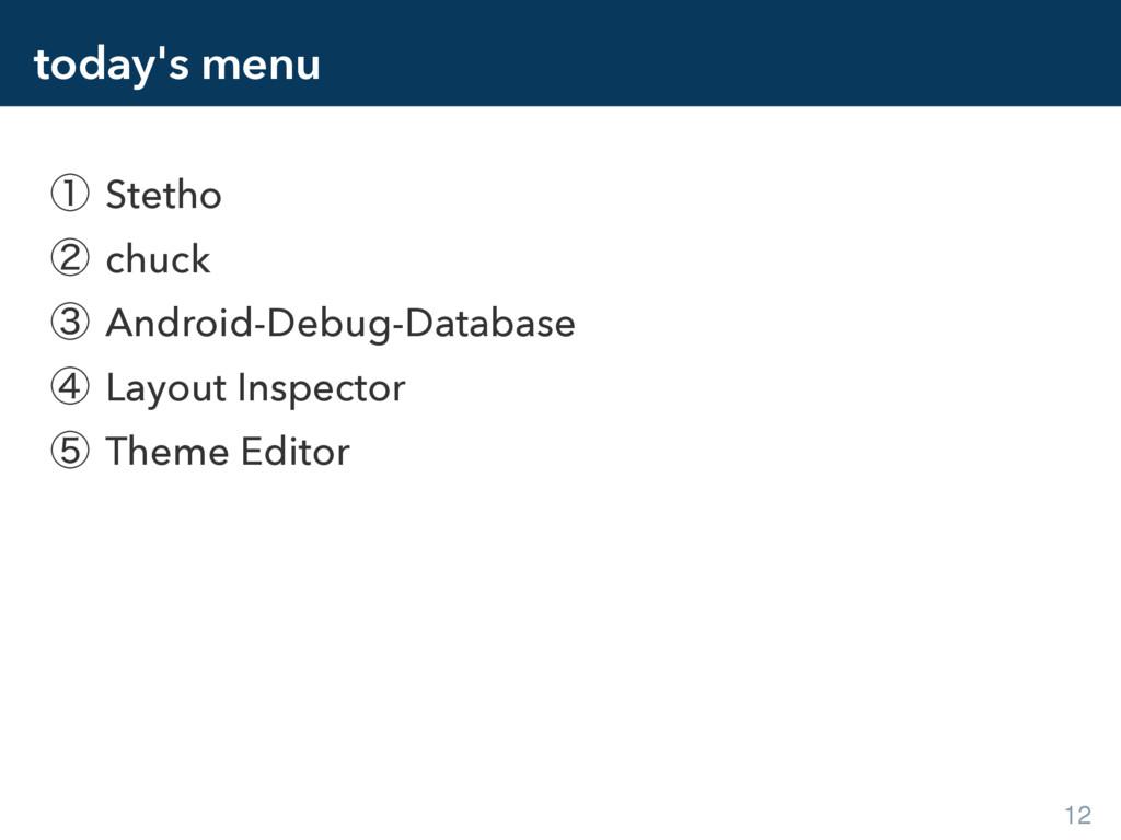 today's menu ᶃ Stetho ᶄ chuck ᶅ Android-Debug-D...