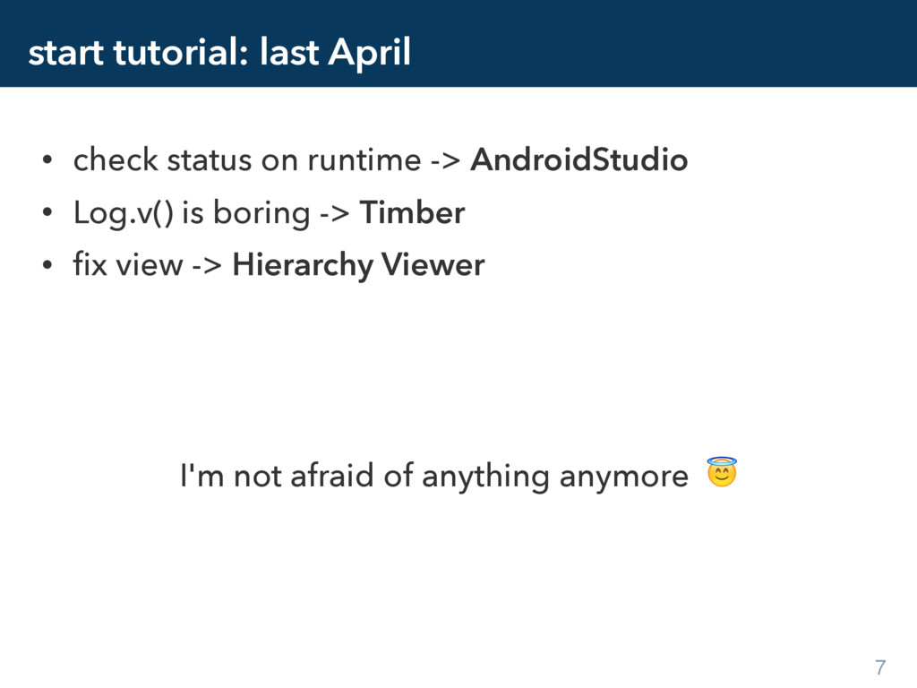 start tutorial: last April • check status on ru...