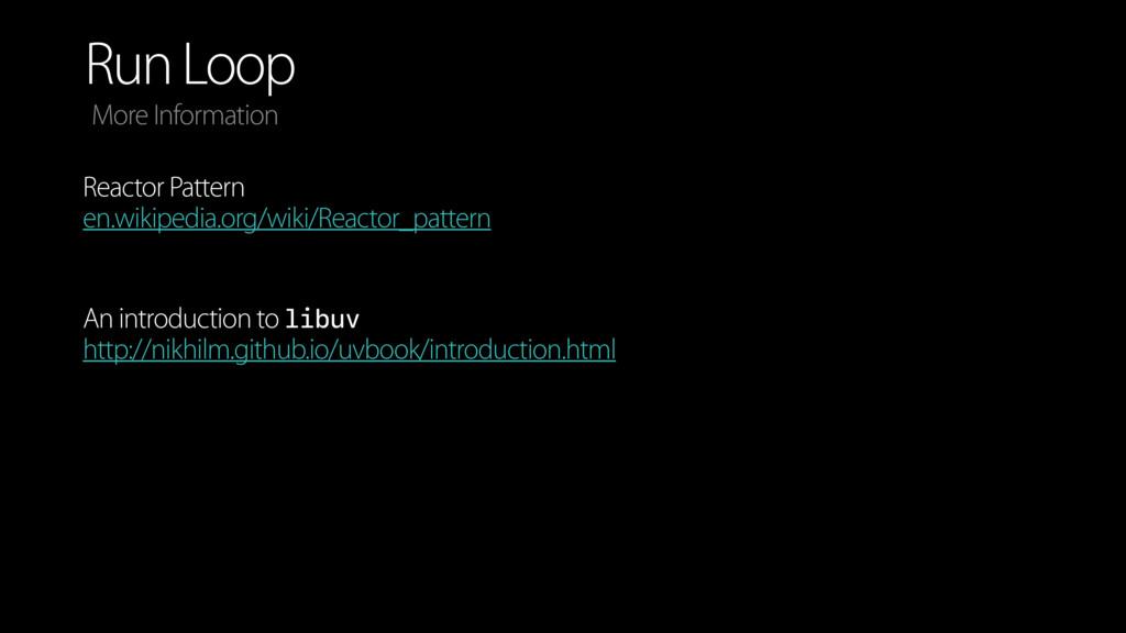 Run Loop More Information Reactor Pattern en.wi...