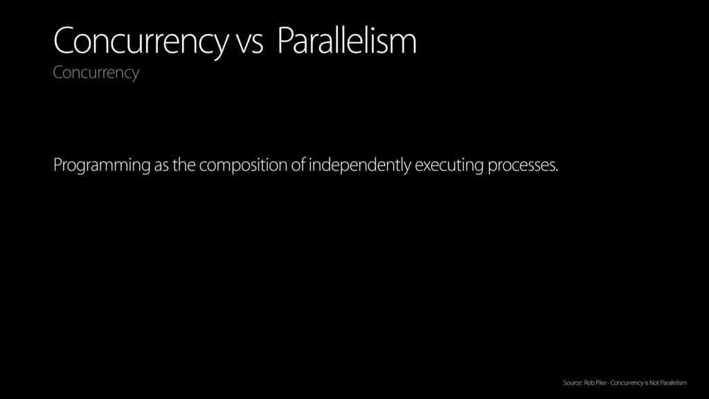 Concurrency vs Parallelism Programming as the c...