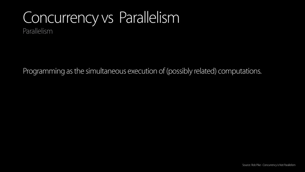 Concurrency vs Parallelism Programming as the s...
