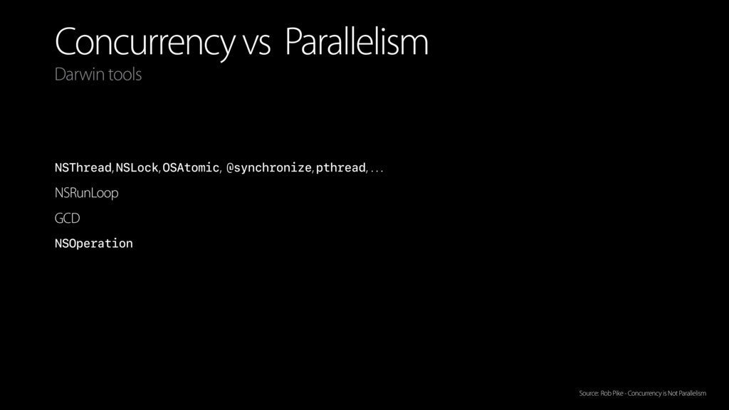 Concurrency vs Parallelism NSThread, NSLock, OS...
