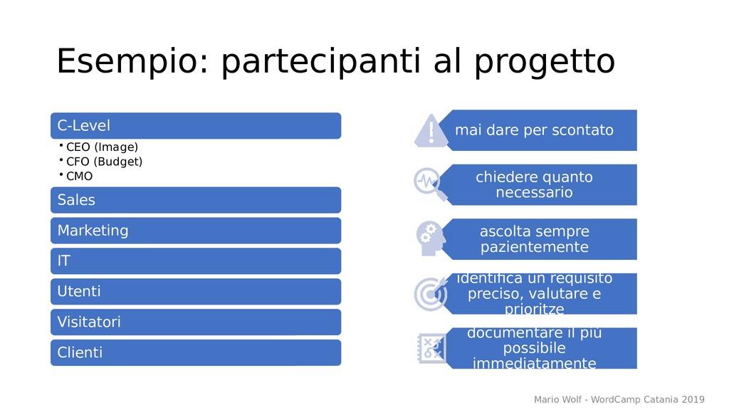 Esempio: partecipanti al progetto C-Level • CEO...