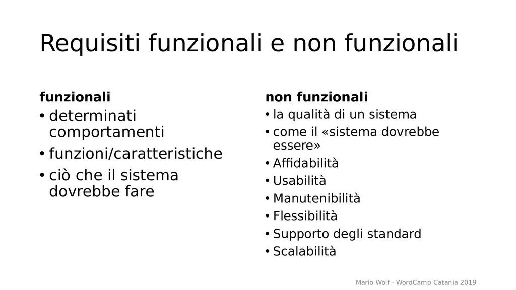 Requisiti funzionali e non funzionali funzional...