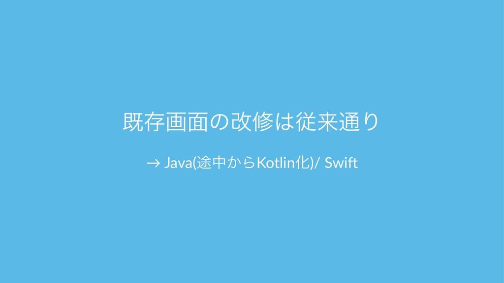 طଘը໘ͷվमैདྷ௨Γ → Java(్த͔ΒKotlinԽ)/ Swi1