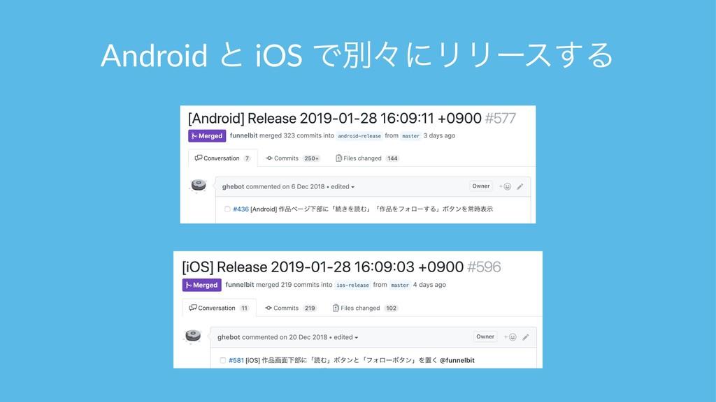 Android ͱ iOS ͰผʑʹϦϦʔε͢Δ