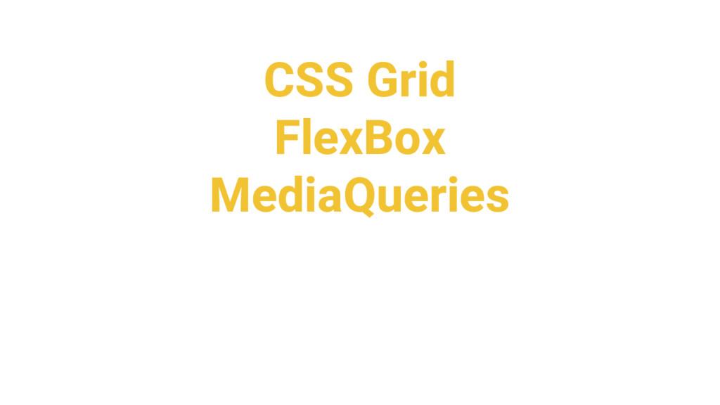CSS Grid FlexBox MediaQueries