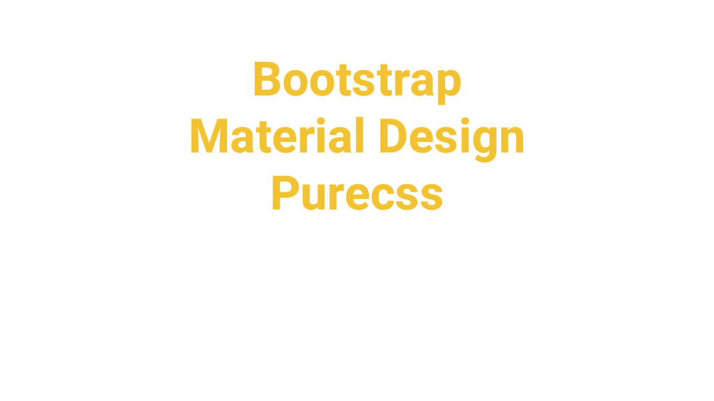 Bootstrap Material Design Purecss