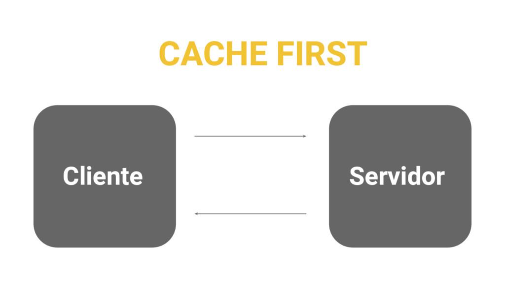 CACHE FIRST Cliente Servidor