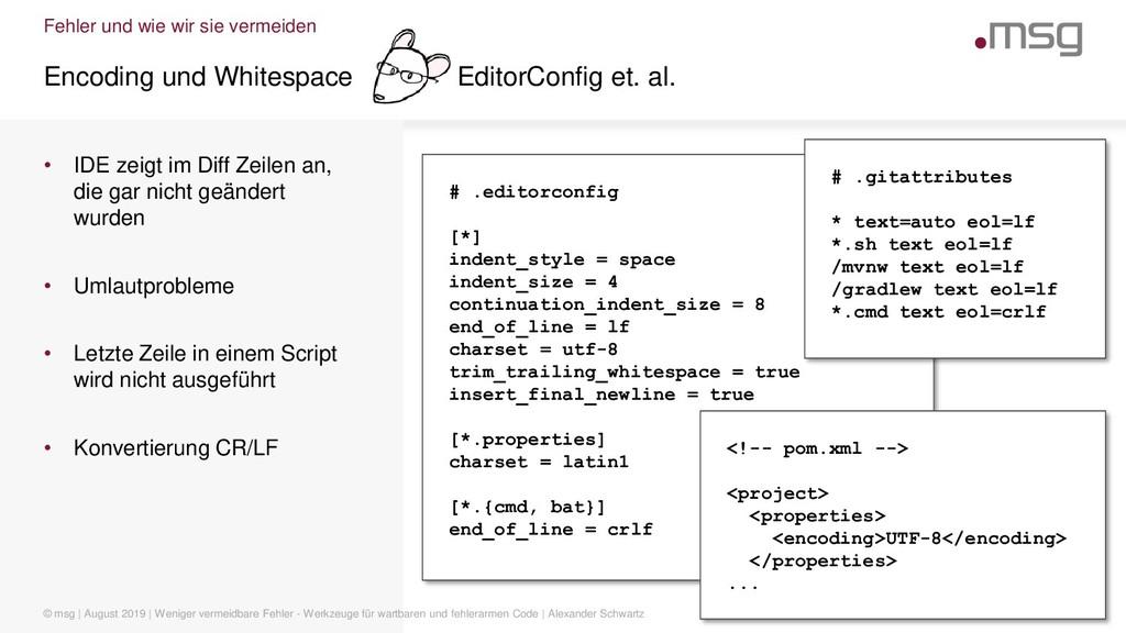Fehler und wie wir sie vermeiden Encoding und W...