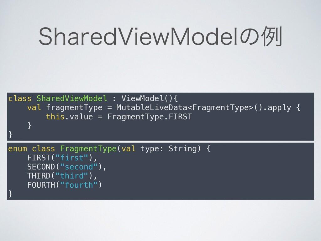 4IBSFE7JFX.PEFMͷྫ class SharedViewModel : ViewM...