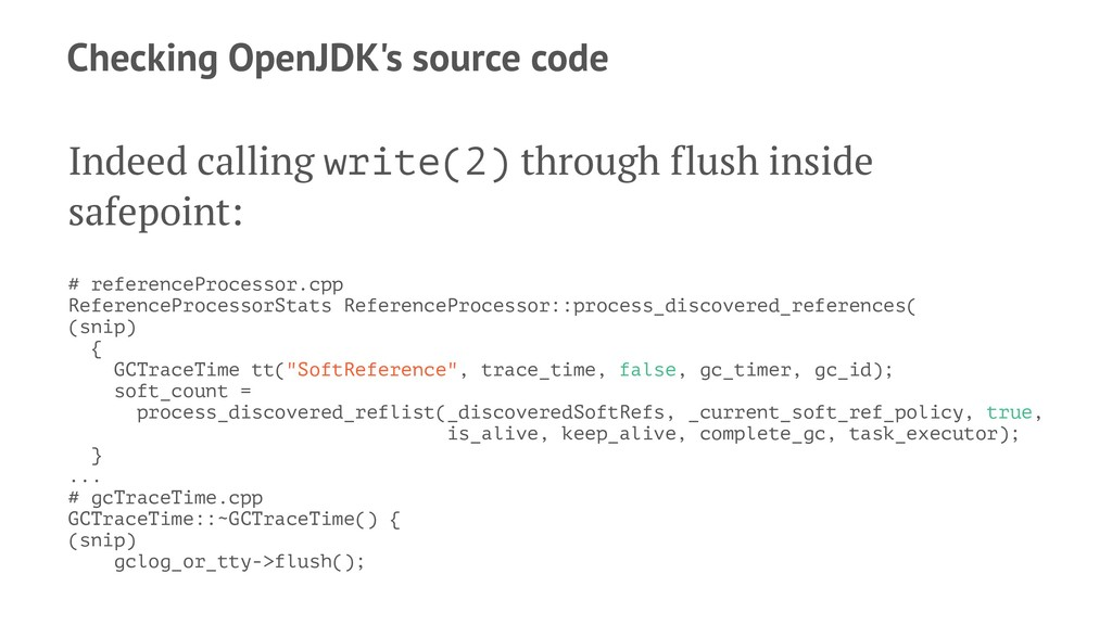 Checking OpenJDK's source code Indeed calling w...