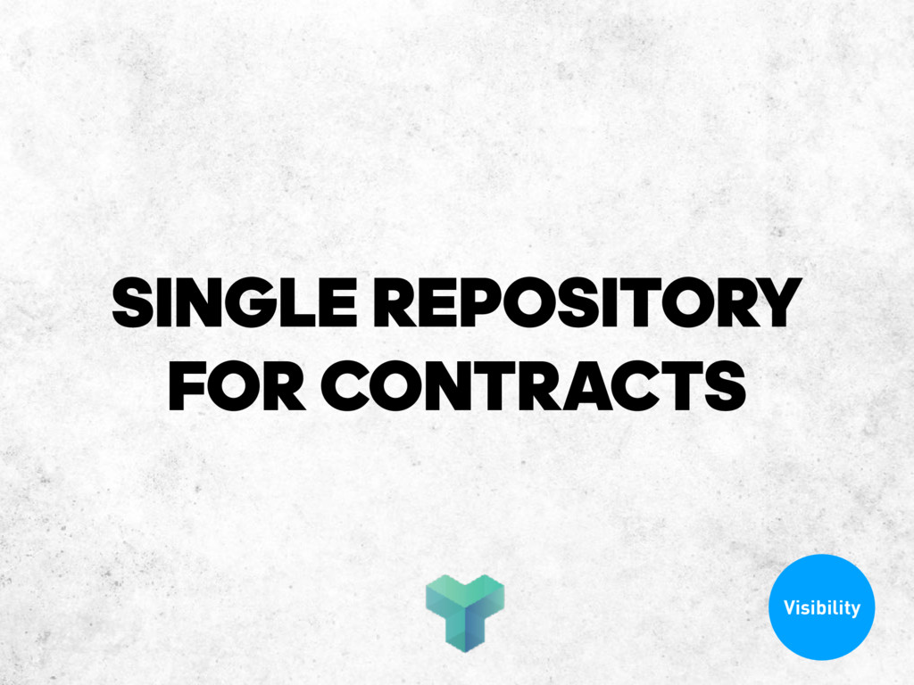 SINGLE REPOSITORY FOR CONTRACTS Visibility