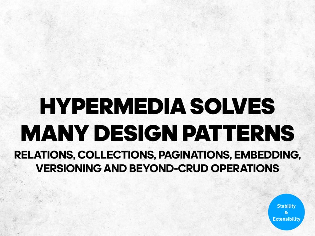 HYPERMEDIASOLVES MANY DESIGN PATTERNS RELATION...