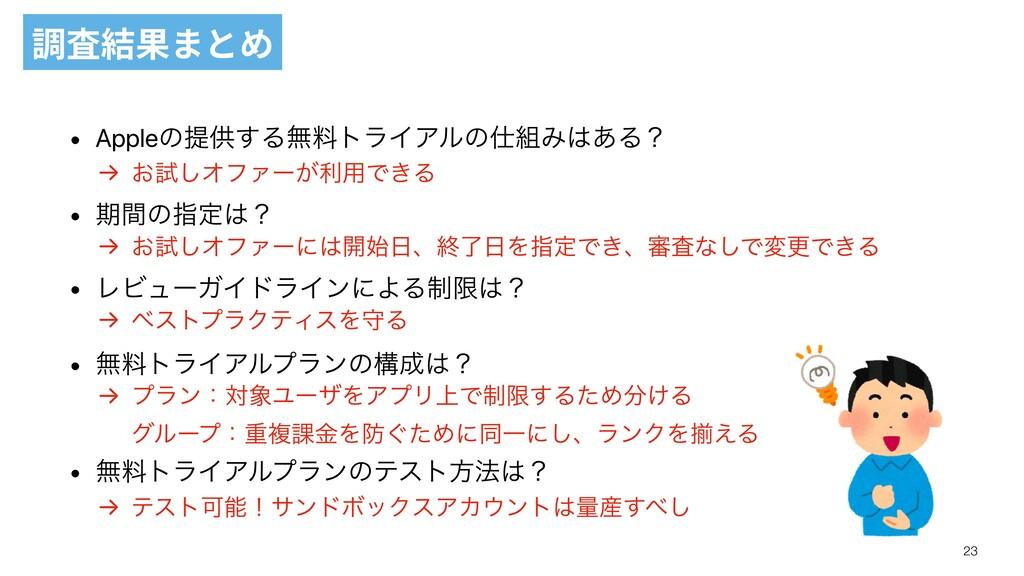 調査結果まとめ → ͓ࢼ͠ΦϑΝʔ͕ར༻Ͱ͖Δ → ͓ࢼ͠ΦϑΝʔʹ։ɺऴྃΛࢦఆͰ͖...