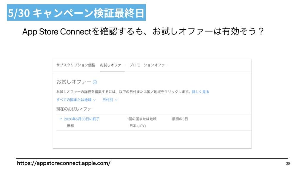 App Store ConnectΛ֬͢Δɺ͓ࢼ͠ΦϑΝʔ༗ޮͦ͏ʁ 5/30 キャンペ...