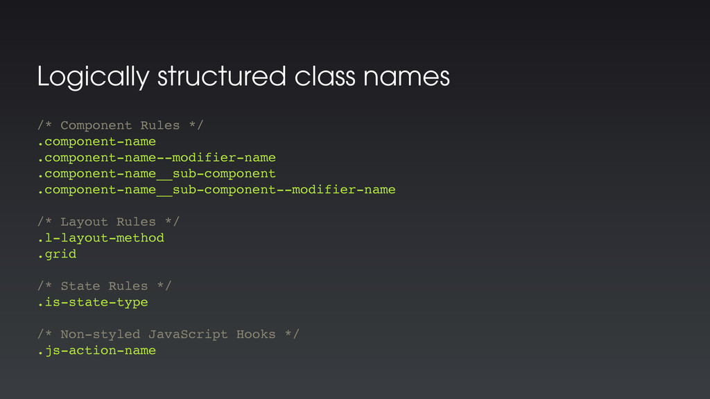 Logically structured class names /* Component R...