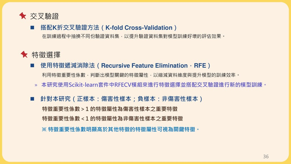 36  搭配K折交叉驗證方法(K-fold Cross-Validation) 在訓練過程中...
