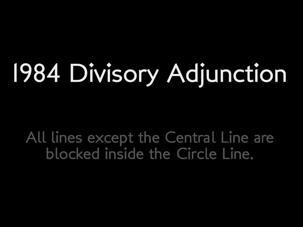 1984 Divisory Adjunction All lines except the C...