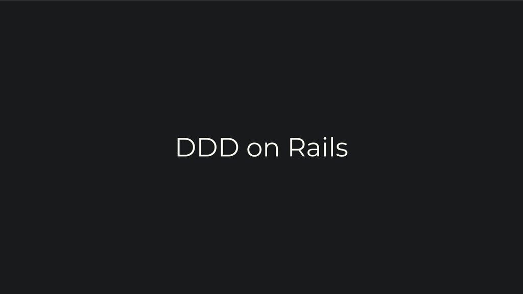 DDD on Rails