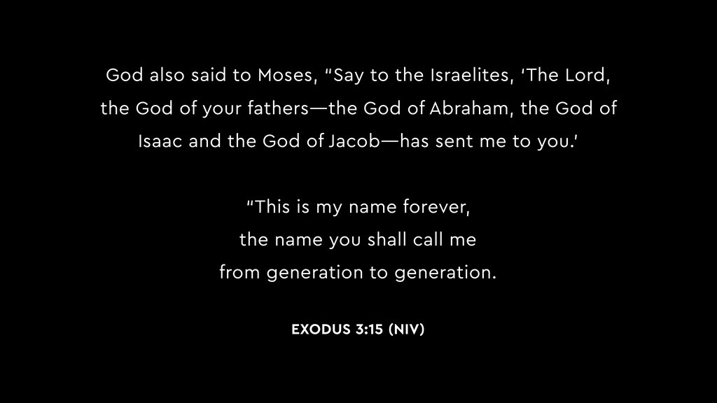 """God also said to Moses, """"Say to the Israelites,..."""