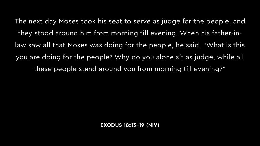 The next day Moses took his seat to serve as ju...