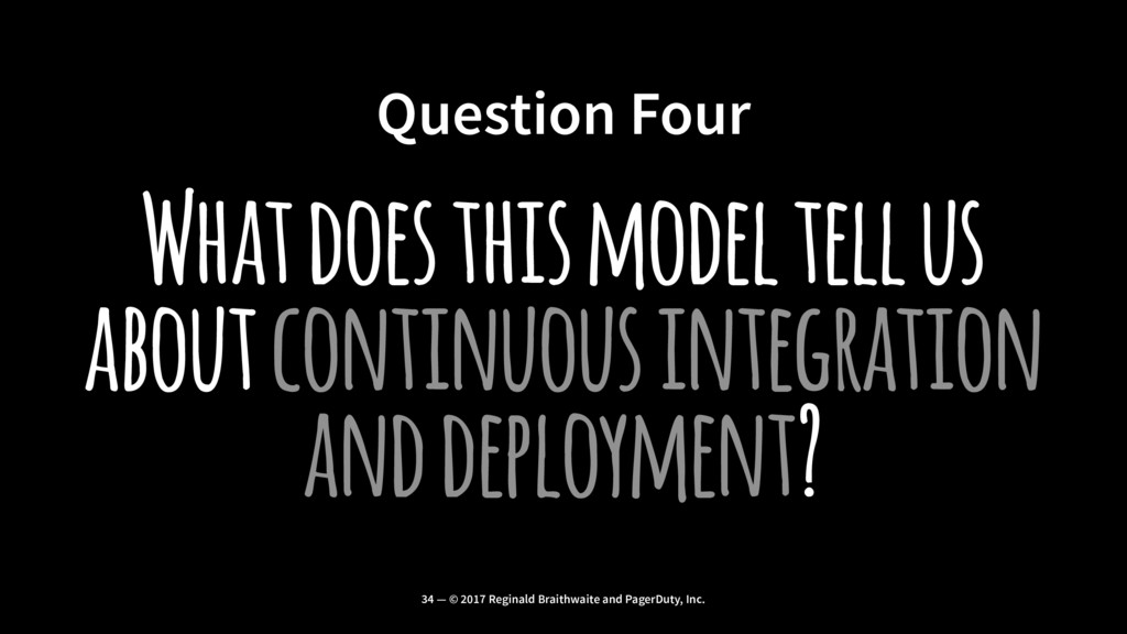 Question Four What does this model tell us abou...
