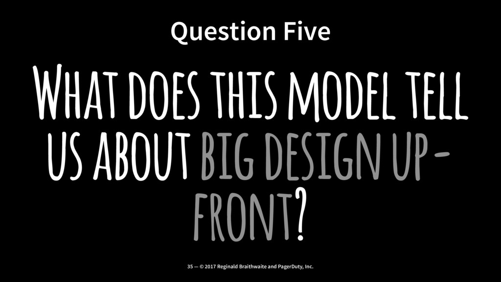 Question Five What does this model tell us abou...
