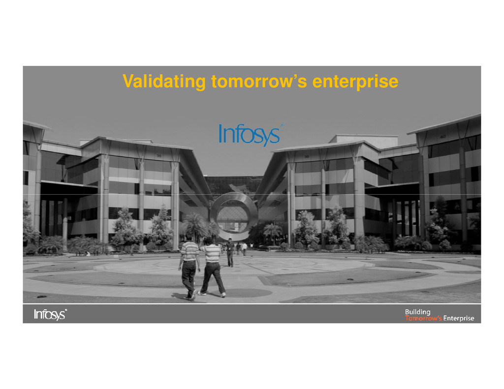Validating tomorrow's enterprise