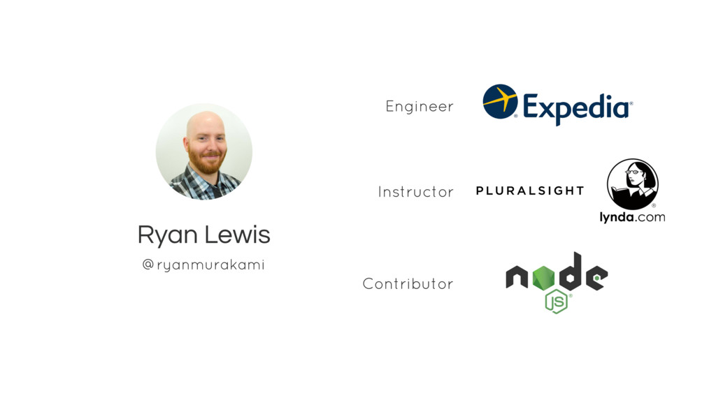 Ryan Lewis Engineer @ryanmurakami Contributor I...