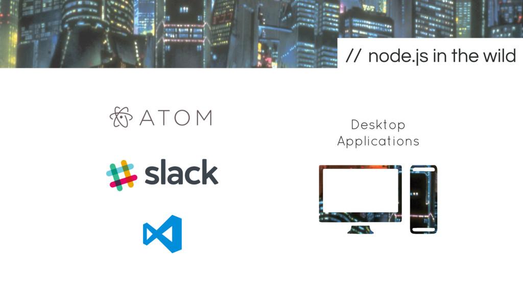Desktop Applications node.js in the wild