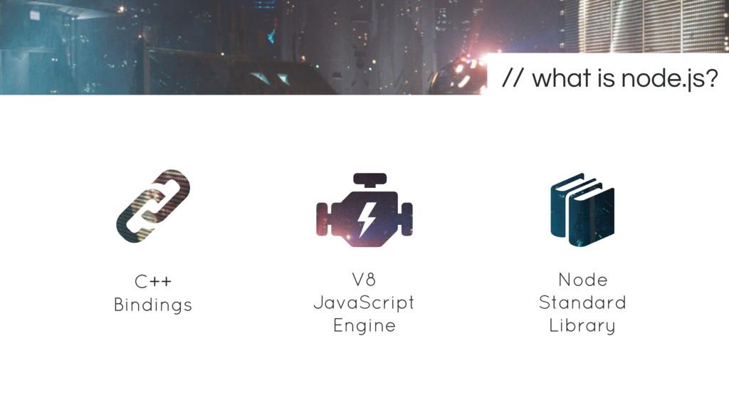 C++ Bindings Node Standard Library V8 JavaScrip...