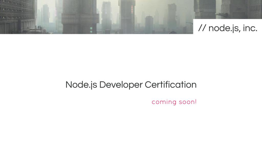 Node.js Developer Certification node.js, inc. c...