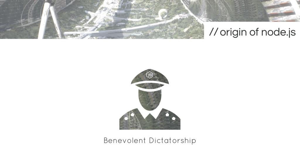 Benevolent Dictatorship origin of node.js