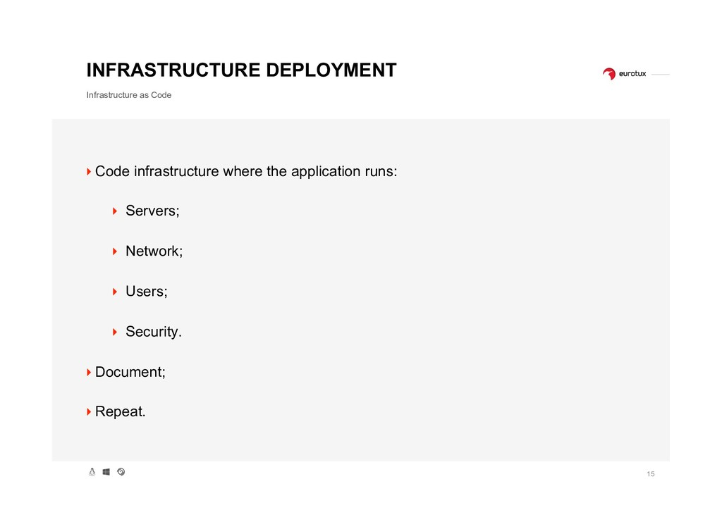 15 INFRASTRUCTURE DEPLOYMENT Infrastructure as ...