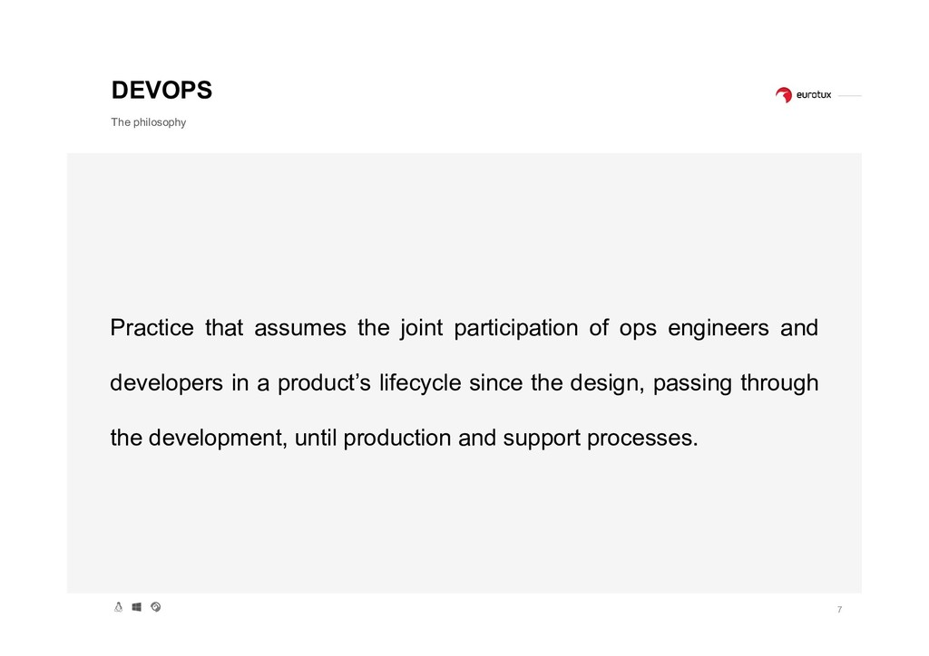 7 DEVOPS The philosophy Practice that assumes t...